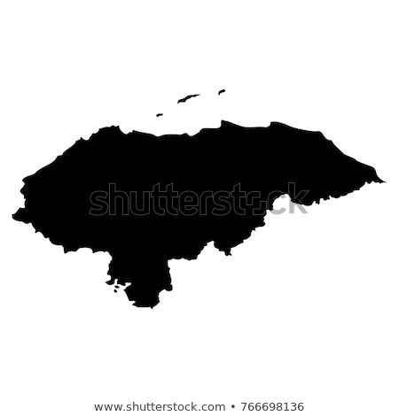 Honduras pays carte monde blanche Photo stock © carenas1