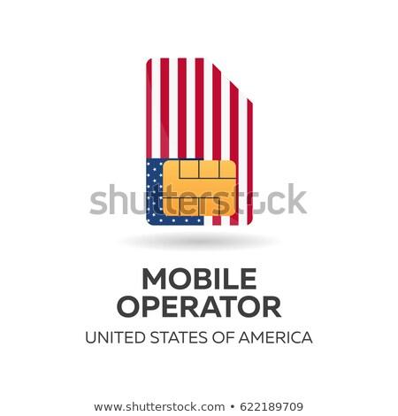 Америки · мобильных · оператор · США · карт · флаг - Сток-фото © Leo_Edition