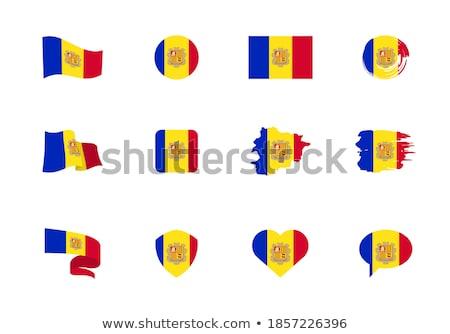 Andorra · Európa · zászló · 3D · izometrikus · stílus - stock fotó © amplion