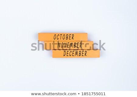 November Concept Isolated Letterpress Word Stock photo © enterlinedesign
