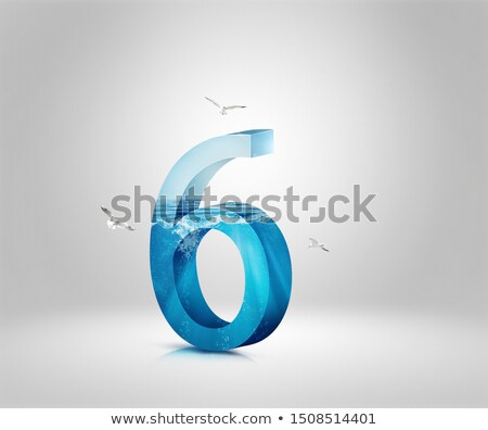 Ice font number 6 SIX 3D Stock photo © djmilic