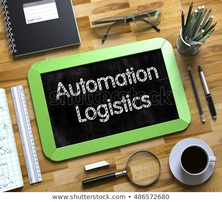 Small Chalkboard with Automation Logistics. 3D. Stock photo © tashatuvango