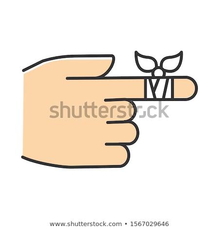finger and bandage Stock photo © devon