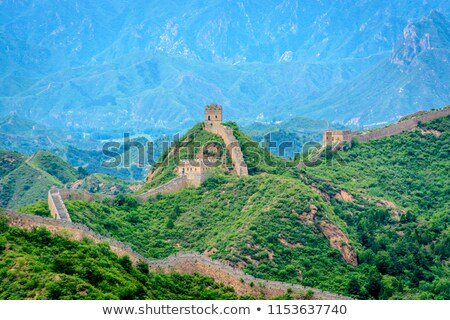 View From a Guard House on Great Wall of China Stock photo © Qingwa