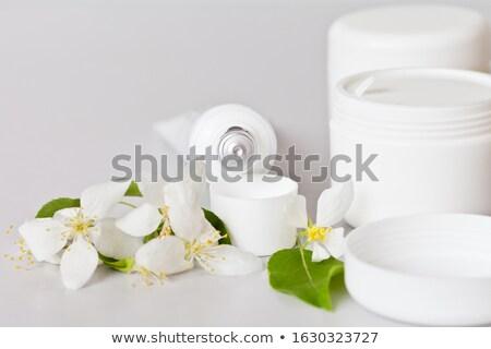 Tüp kozmetik çiçekler elma ağacı şablon elma Stok fotoğraf © orensila