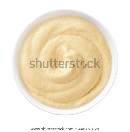 bowl of semolina pudding stock photo © Digifoodstock