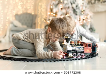 two boys playing with box Stock photo © IS2
