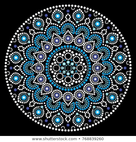mandala vector design aboriginal dot painting style australian folk art boho style stock photo © redkoala