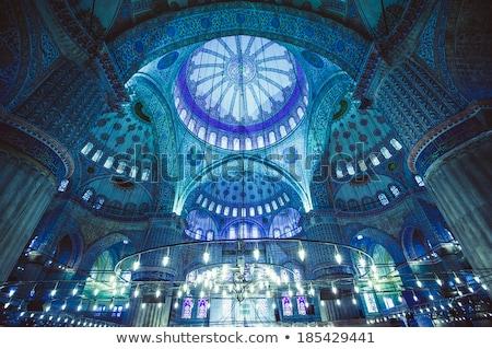 Stock fotó: Kék · mecset · Törökország · Isztambul · kék · ég · művészet