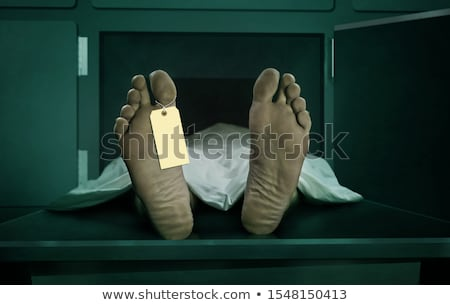 Pieds morts Homme personne morgue Photo stock © stevanovicigor