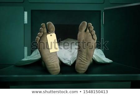 hulla · lábujj · címke · öngyilkosság · drog · bor - stock fotó © stevanovicigor