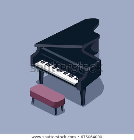 рояль · классический · эскиз · черный · аннотация · щетка - Сток-фото © absenta