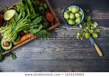 brussel sprout on wood background Stock photo © M-studio