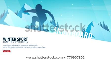 extrém · ugrás · hegyi · kerékpár · férfi · napfelkelte · kő - stock fotó © leo_edition