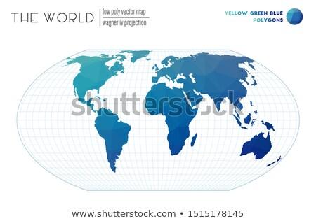 Wereldkaart ongebruikelijk aarde atlas wereld papier Stockfoto © popaukropa