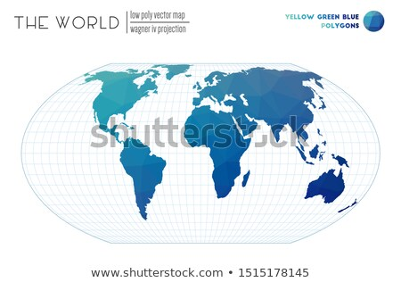 Polygonal world map. Unusual earth. Atlas of world Stock photo © popaukropa