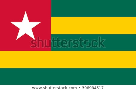 Togo banderą biały serca tle podpisania Zdjęcia stock © butenkow
