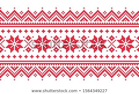 Seamless folk art pattern, Lapland traditional design, Sami vector seamless background Scandinavian, Stock photo © RedKoala