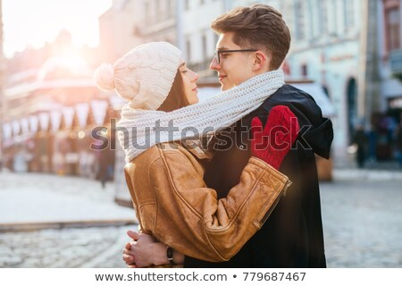 Knit man scarf for cold day Stock photo © xuanhuongho