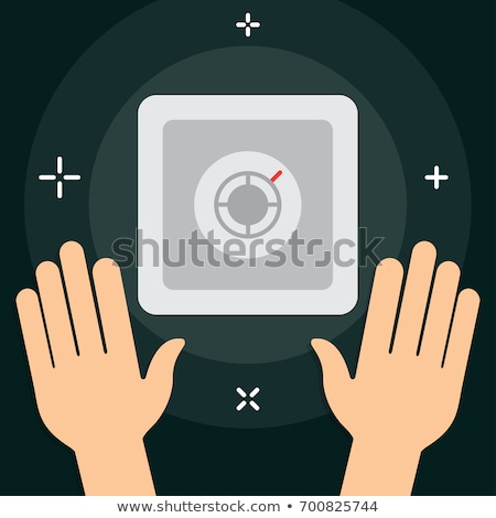 Gépi ikon stílus pénz raktár pénzügyi Stock fotó © studioworkstock