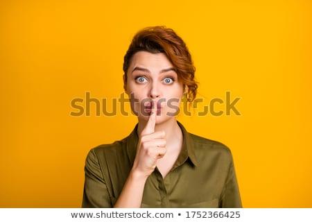 изображение тайна имбирь женщину рубашку Сток-фото © deandrobot