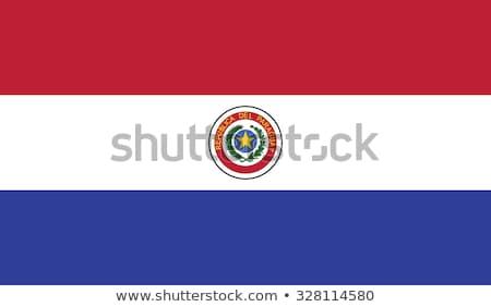 Paragwaj banderą biały projektu niebieski podróży Zdjęcia stock © butenkow