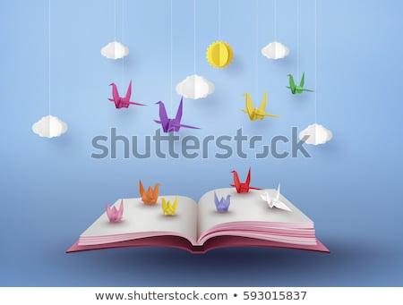 оригами животные открытой книгой иллюстрация красочный образование Сток-фото © lenm