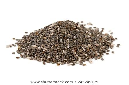 Sağlıklı tohumları çanak ahşap kepçe beyaz Stok fotoğraf © Digifoodstock