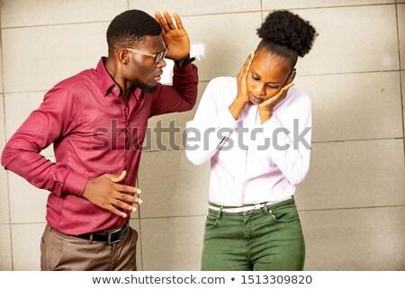 homme · asthme · attaquer · souffle · jeune · homme · visage - photo stock © elnur