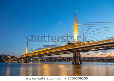 Halic Metro Bridge in Istanbul Stock photo © Givaga