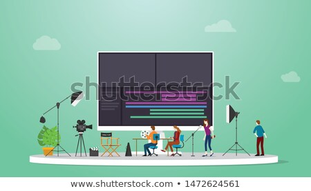 Videographer Equipment Icons in Flat Style Stock photo © Voysla