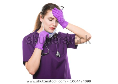 小さな 美しい 女性 悲しい 医師 医療 ストックフォト © Traimak