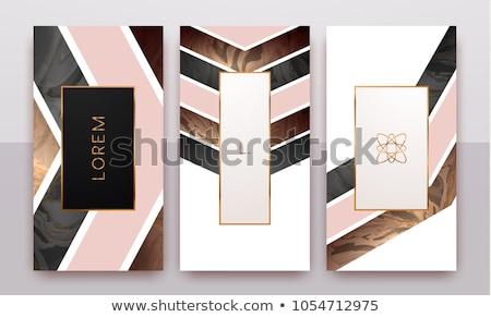 Absztrakt feketefehér üzlet irodaszer szett iroda Stock fotó © SArts