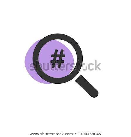 Magnifying glass looking for a hashtag isolated web icon Stock photo © Imaagio
