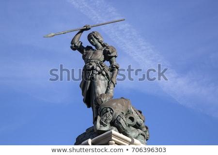 La Coruna Maria Pita Square monument in Galicia Stock photo © lunamarina