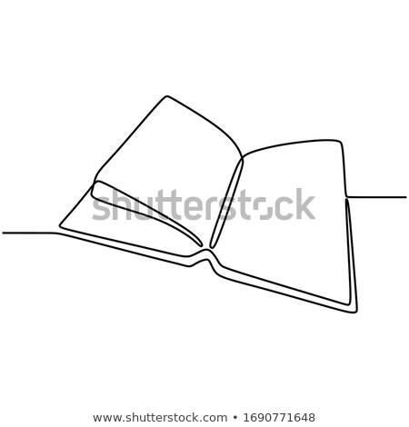 open window with document hand drawn outline doodle icon stock photo © rastudio
