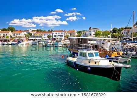Ville turquoise port bord de l'eau vue île Photo stock © xbrchx