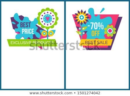 o · melhor · comprar · conjunto · selos · texto · venda - foto stock © robuart