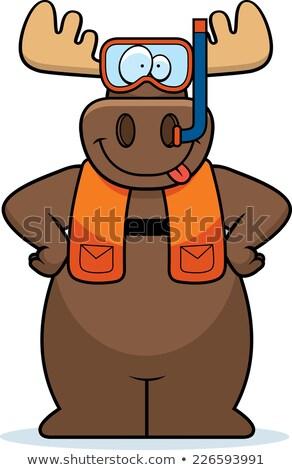 Cartoon Moose illustrazione indossare attrezzi Foto d'archivio © cthoman