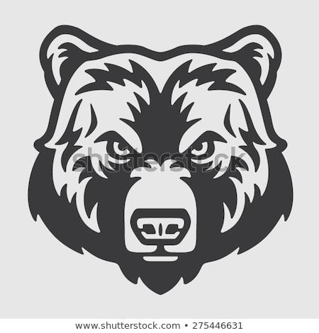 medve · kabala · embléma · terv · design · sablon · korona - stock fotó © morys