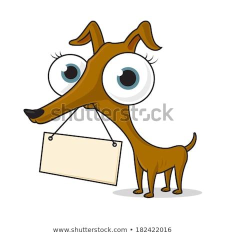 confuso · cão · desenho · animado · olhando · animal - foto stock © cthoman