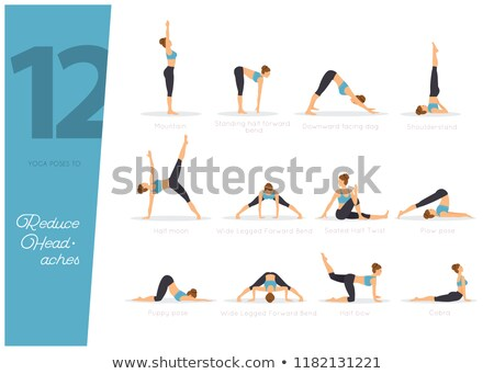 12 Yoga poses to reduce headaches Stock photo © anastasiya_popov