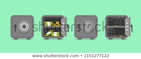 Money Box and Safe Bank Set Vector Illustration Stock photo © robuart