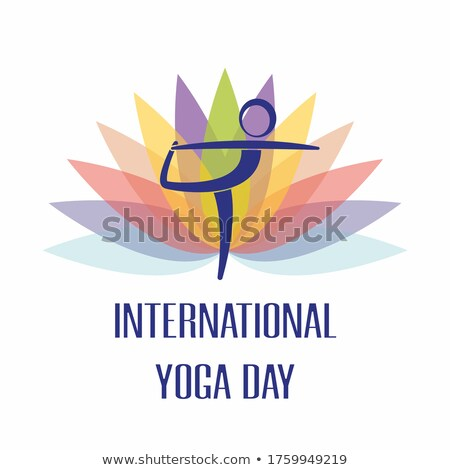 Yoga Healthy Physical Training, Vector Poster Stock photo © robuart
