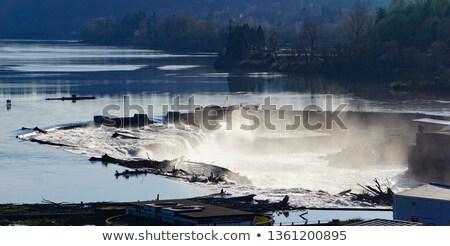usina · Oregon · poder · gerador · planta · rio - foto stock © davidgn