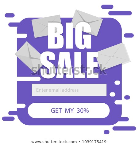 Vector template for email subscribe in purple on a white background. Big sale discounts Stock photo © Natali_Brill