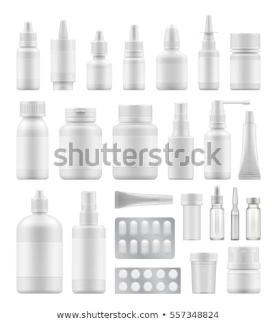 transparant · medische · container · vector · jar · vitamine - stockfoto © pikepicture