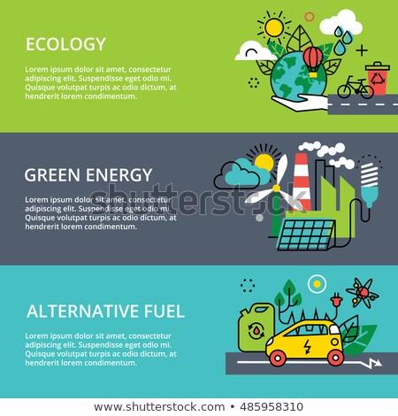代替案 燃料 ビジネスマン 緑 市 電気自動車 ストックフォト © RAStudio