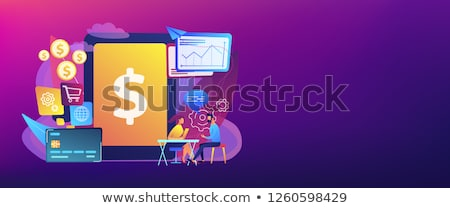 Core banking IT system concept banner header. Stock photo © RAStudio