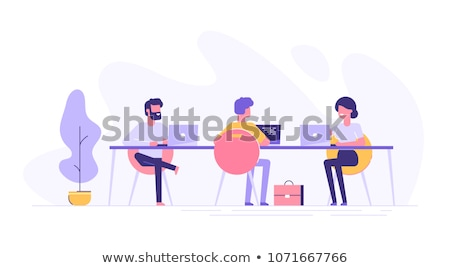 Collaboration Smart People with Laptops Vector Stock photo © robuart